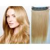 Clip in pás z pravých vlasů 63cm rovný – přírodní blond