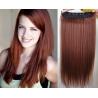 Clip in pás z pravých vlasů 63cm rovný – měděná