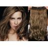 Clip in pás z pravých vlasů 53cm vlnitý – tmavý melír