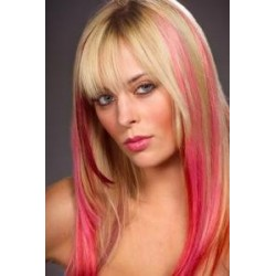 Clip in pramínek – REMY 100% lidské vlasy – růžová