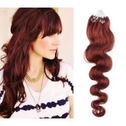 Vlnité vlasy Micro Ring / Easy Loop / Easy Ring / Micro Loop 60cm – měděné