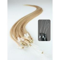 Vlasy pro metodu Micro Ring / Easy Loop / Easy Ring / Micro Loop 60cm – přírodní blond