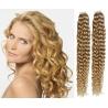 Kudrnaté vlasy pro metodu Pu Extension / Tape Hair / Tape IN 60cm - přírodní blond