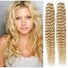 Kudrnaté vlasy pro metodu Pu Extension / Tape Hair / Tape IN 60cm - nejsvětlejší blond