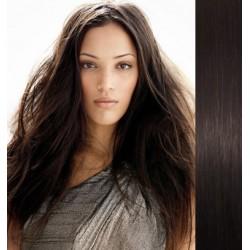 Vlasy pro metodu Pu Extension / TapeX / Tape Hair / Tape IN 40cm - přírodní černá