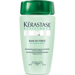 KÉRASTASE Résistance Bain De Force šampon pro křehké, lámavé vlasy 250ml