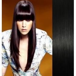 Clip in ofina – REMY 100% lidské vlasy – ČERNÁ