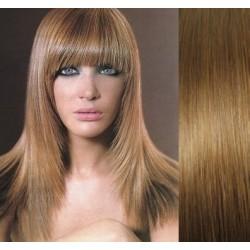 Clip in ofina – REMY 100% lidské vlasy – SVĚTLE HNĚDÁ