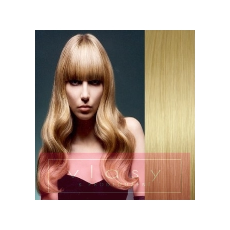 Clip in ofina – REMY 100% lidské vlasy – SVĚTLEJŠÍ BLOND