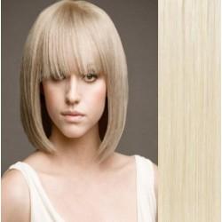 Clip in ofina – REMY 100% lidské vlasy – PLATINA