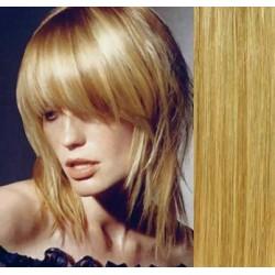 Clip in ofina – REMY 100% lidské vlasy – PŘÍRODNÍ/SVĚTLEJŠÍ BLOND