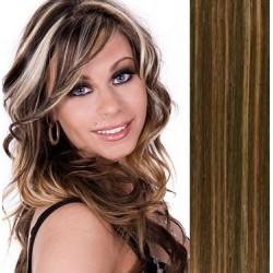 Clip in vlasy 53cm 100% lidské – REMY 100g – TMAVÝ MELÍR