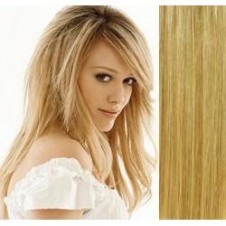 Clip in vlasy 53cm 100% lidské – REMY 100g – PŘÍRODNÍ/SVĚTLEJŠÍ BLOND