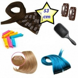 Clip in deluxe balíček – clip vlasy 53cm REMY pravé lidské